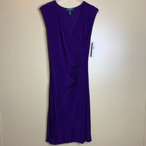 NWT Women's Ralph Lauren Faux Wrap Dress Small